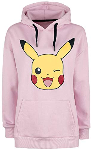 Pokmon-Pikachu-Sudadera-con-Capucha-Rosa