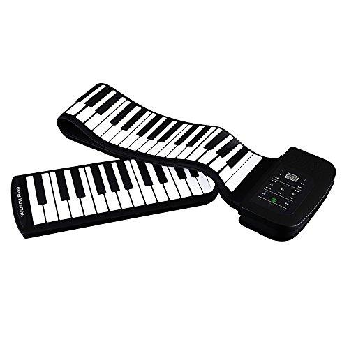 ammoon Piano Tastiera Elettrico pianola 88 Tasti Portatile Silicone Flessibile Roll Up Pianoforte Pieghevole Hand-rolling con Batteria Sustain Pedal