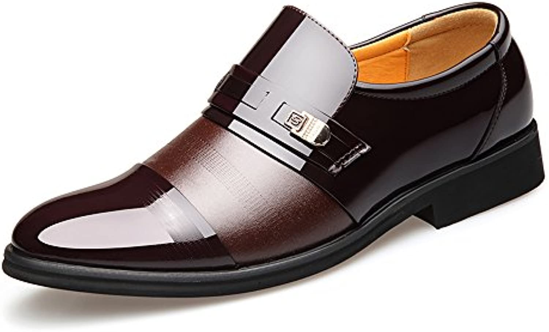 Yaojiaju Formale Business Schuhe Glatt PU Leder Spleiß Slip on Breathable gefüttert Oxford für MännerYaojiaju Formale Business Breathable gefüttert