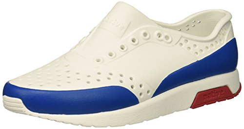 native13105002 - Lennox Block, Kinder Unisex-Kinder, Weiá (Shell White/Ski Patrol Red/Victoria Blue Block), 22 EU Medium ()