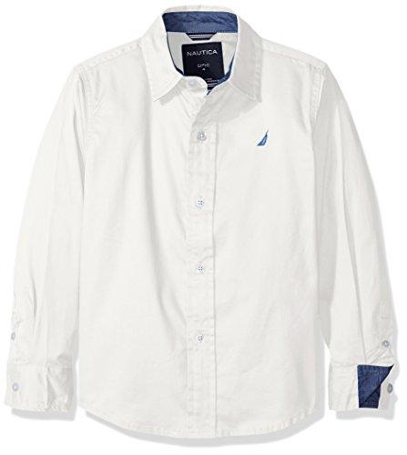 Nautica Jungen Button Down Hemd - weiß - (Hemd Nautica Jungen Weißes)