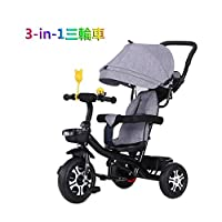 GYF Tricycle for children 3-in-1 steering tricycle two-way swivel seat is suitable for 1-6 year-old children with a children