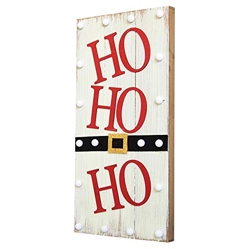 YANKAN LED-Nachtlicht,Weihnachten Deko Licht,(Nordische Weihnachten Hut Brief Beleuchtung Desktop Holzornamente HäNgen)