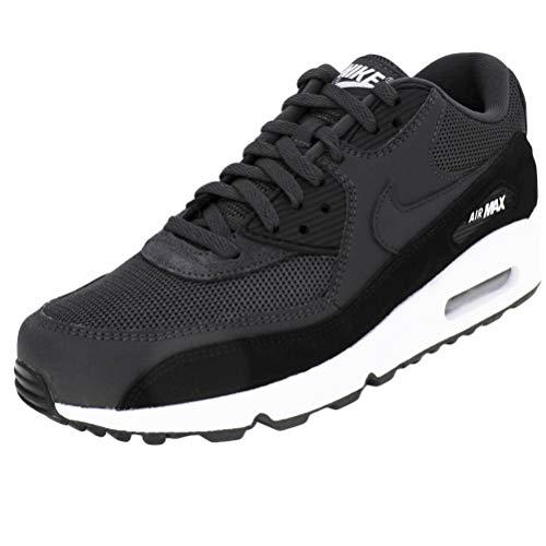 Nike Herren AIR MAX 90 Essential Leichtathletikschuhe, Schwarz (Anthracite/White/Black 000), 43 EU