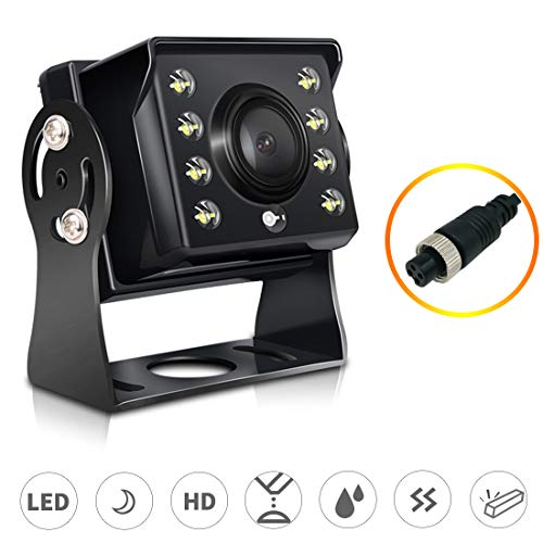 Universelle Rückfahrkamera, LED-Nachtkamera mit automatischer Erkennung, 360-Grad-Einstellwinkel, 120-Grad-Betrachtungswinkel, IP67 wasserdicht für Auto LKW Bus RV Usw. (Rückfahrkamera: HD   4Pin) 120-grad-auto