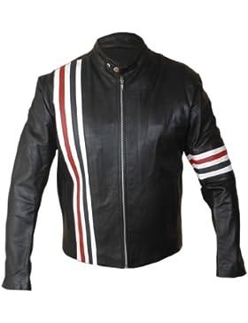 Leatherly Chaqueta de hombre Easy Rider Peter Fonda Sintético Cuero Chaqueta