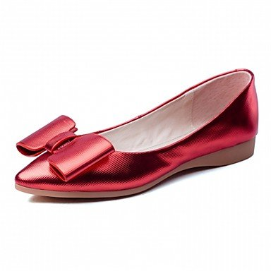 Wuyulunbi@ Scarpe Donna Primavera Autunno Comfort Novità luce Appartamenti suole piatte rotonde Bowknot di punta per abbigliamento casual rosa rosso,rosso,noi6.5-7 / Eu37 / UK4,5-5 / CN37 US8.5 / EU39 / UK6.5 / CN40