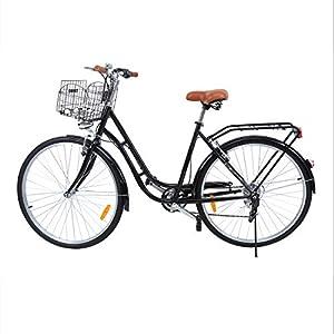 Ridgeyard 28 Zoll 7 Stadtrad Damen Männlich Fahrrad Damenfahrrad Outdoor...