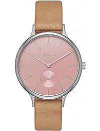 Skagen Damen-Armbanduhr Analog Quarz Leder SKW2406