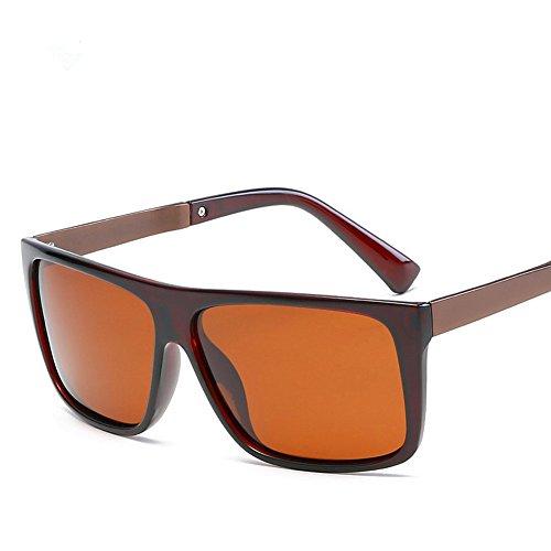 Youmei® Men's Trend Anti-UV Polarisierte Sonnenbrillen für Outdoor-Sportarten(Brown Rahmen Braune Objektiv)