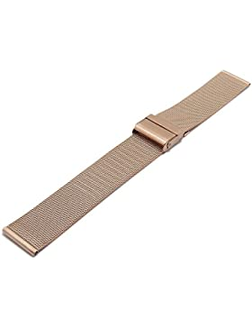 Meyhofer Uhrenarmband Villach 16mm roségoldfarben Milanaise feines Geflecht Schiebeverschluss MyCrkmb541/16mm/...