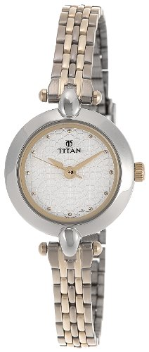 Titan Karishma Analog White Dial Women's Watch -2521BM01