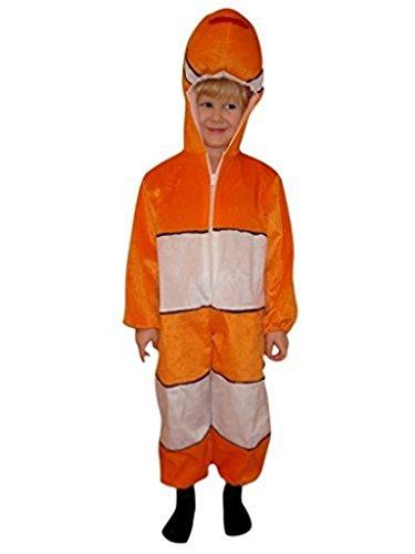 Mädchen Für Clown Kostüm Kleinkind - Fisch-Kostüm, J22 Gr. 122-128, für Kinder, Fisch-Kostüme Clown-Fische für Fasching Karneval, Klein-Kinder Karnevalskostüme, Kinder-Faschingskostüme, Geburtstags-Geschenk Weihnachts-Geschenk