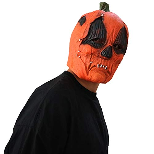 achsene Kürbis Latex Kopf Maske, Kostüme Cosplay Partei Kostüm Zubehör Horror Latex Zombie Ghost Creepy ()