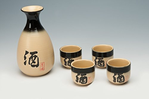"""'Juego de sake """"Kyoto de 5piezas de cerámica"""