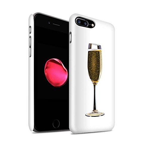 STUFF4 Glanz Snap-On Hülle / Case für Apple iPhone 7 Plus / Pack 15pcs / Sass/Frech Kollektion Ein Glas Champagner