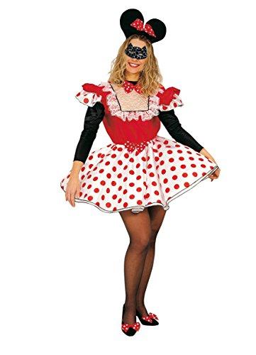 Ciao-Maus Kostüm Damen Erwachsene, Größe (Womens Maus Kostüm)