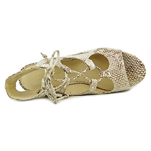 Marc Fisher Smarty Cuir Talons Compensés Light Natural