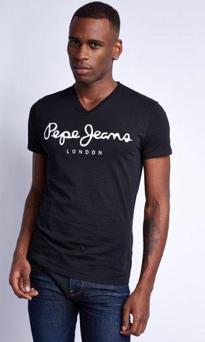 Pepe Jeans -  T-shirt - Collo a V  - Maniche corte  - Uomo Nero X-Small