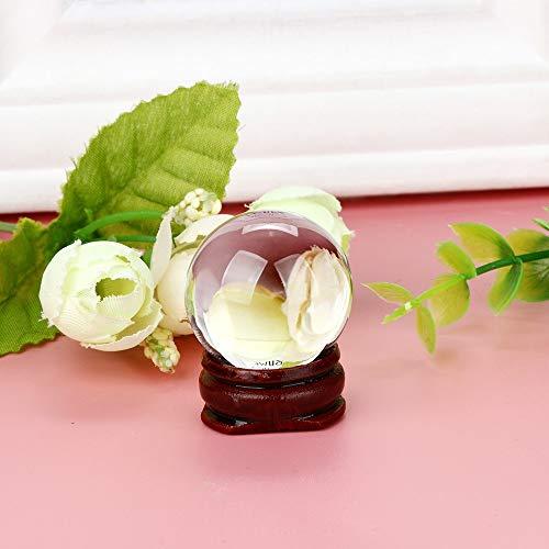 Alaso Boule de Cristal d'Obsidienne (30mm) pour FENGSHUI Boule,méditation,Cristal,DE Guérison Divinatoire Sphere, décoration de la Maison,100% Naturel et Authentique
