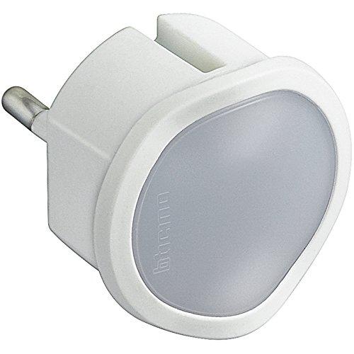 BTicino S3625DL Torcia d'Emergenza Automatica con Funzione Luce di Cortesia Regolabile, 220 V, Bianco