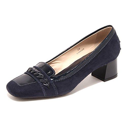 Tod's 42933 Decollete Donna Blue Scarpa Shoes Suede Women [35]
