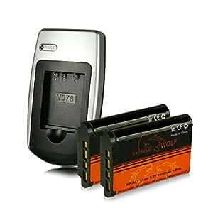 Power Kit [ Chargeur + 2x Batterie ] NP-BX1 NPBX1 per Sony CyberShot DSC-H400 | DSC-HX50 | DSC-HX50V | DSC-HX60 | DSC-HX60V | DSC-HX300 | DSC-HX400 | DSC-HX400V | DSC-RX1 | DSC-RX1R | DSC-RX100 | DSC-RX100M2 (RX100 II) | DSC-RX100M3 (RX100 III) | DSC-WX300 | DSC-WX350 - Sony HDR-AS10 | HDR-AS15 | HDR-AS30 | HDR-GW66 | HDR-GWP88 | HDR-MV1