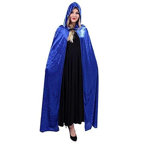 Costumes Pioneer Dress - Brave Pioneer Cape Halloween Velours Capuche Poncho