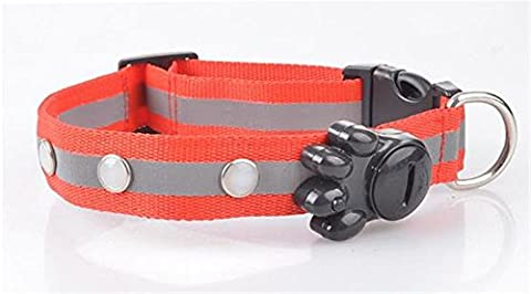 Uni Best Safety LED Collar for Dogs, Fashion LED Collar Luminous Flashing Safety Dog Collar (red)