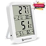 Bodyguard Digitales Thermometer Hygrometer, Temperatur Luftfeuchtigkeit Monitor mit LCD HD Bildschirm und Hochpräzise Empfindliche Sensoren, für Babyzimmer,Schlafzimmer,Büro,Gewächshäuser