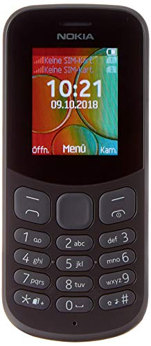 "Dual SIM Nokia 130 1,8""68,6 g Nero-cellulare, 4,57 cm (1,8"""", 160 x 128 Pixeles, display LCD TransFlash) (SD, 32 GB, 4 MB)"" [Germania]"