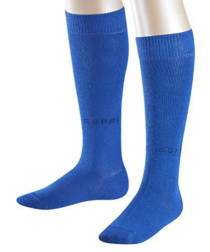 ESPRIT Kinder Foot Logo 2-Pack K KH Kniestrümpfe, Blau (Deep Blue 6046), 35-38 (2er Pack)