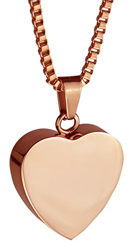 Rose Gold Anhänger Herz Urne Halskette-Gedenk Asche Andenken-Verbrennung Schmuck (Für Gedenkstätte Asche Schmuck)