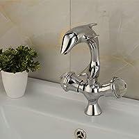 YFF@ILU Casa deco Creative delfino di rame il lavandino del bagno lavabo