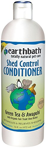 EarthBath All Natural Green Tea Conditioner Shed Control for Pets Dogs Cats 16z (Conditioner Cat Dog)