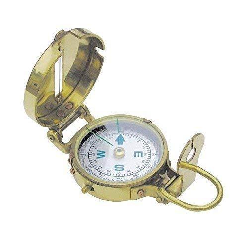 linoows Armee Kompass, Englischer Peil- und Marschkompass, Messing Poliert