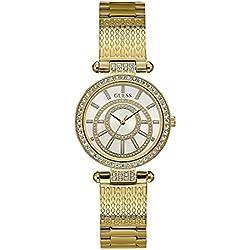 Guess Reloj Analógico para Mujer de Cuarzo con Correa en Acero Inoxidable W1008L2