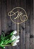EstherBur87 Lettre M Gateau Topper pour Mariage Premier Gateau Topper PersonnalisšŠ Unique Lettre Gateau Topper De MarišŠe Douche Gateau Topper Rose Gold...