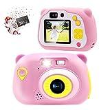 Sonkir Fotocamera Digitale Ricaricabile 32 GB Fotocamera Digitale Ricaricabile da 15,0 MP Fotocamera Anteriore e Posteriore, Regalo Giocattolo per Bambini
