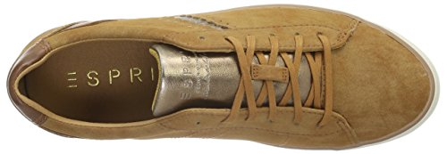 Esprit Miana Lace Up, Baskets Basses Femme Marron (235 caramel)