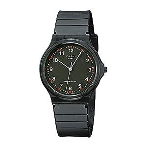 Casio Reloj Analogico para Hombre de Cuarzo con Correa en Resina MQ-24-1BLLGF
