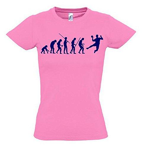 HANDBALL Evolution Kinder T-Shirt pink-navy, Gr.164cm