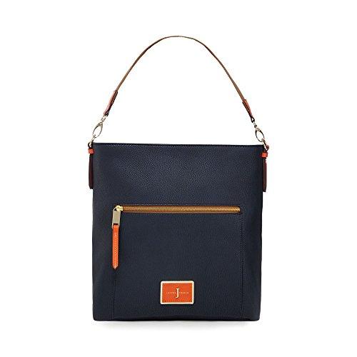 j-by-jasper-conran-navy-logo-plate-cross-body-bag
