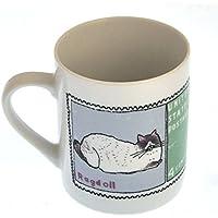 Burmese Doll - 1st Class Mug - Magpie Mug by Charlotte Farmer - Ragdoll Cat & Burmese Cat