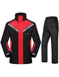 NYDZDM Set Impermeabile per Uomini e Donne Set Impermeabile da Pioggia per  Motociclisti riutilizzabili (Giacca Antipioggia e Pantaloni… 205a36db4e2c