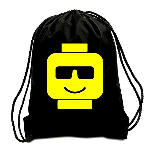 Price comparison product image COOL LEGO HEAD CORDED SHOULDER BAG,SWIMMING BAG,PE BAG,GYMSAC,DRAWSTRING BAG, WATER RESISTANT