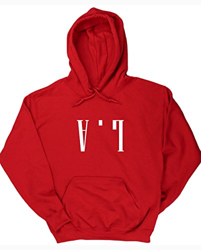 hippowarehouse-sweat-shirt-capuche-homme-rouge-x-large