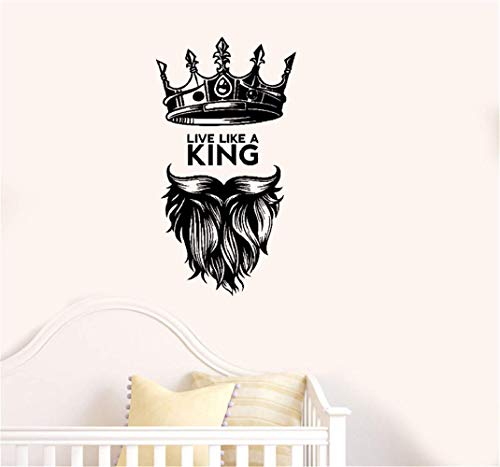 Wandaufkleber Schlafzimmer leben wie ein King Zitat Man Cave Art Bedroom