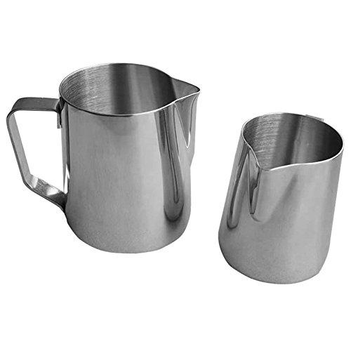 shzons TM Latte in acciaio inox brocca per caffè, latte e schiuma di latte 20-Oz