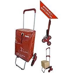 Chariot de courses imperméable et Monte Escalier - Poignée Télescopique – Capacité 44L - Marque Bo Time